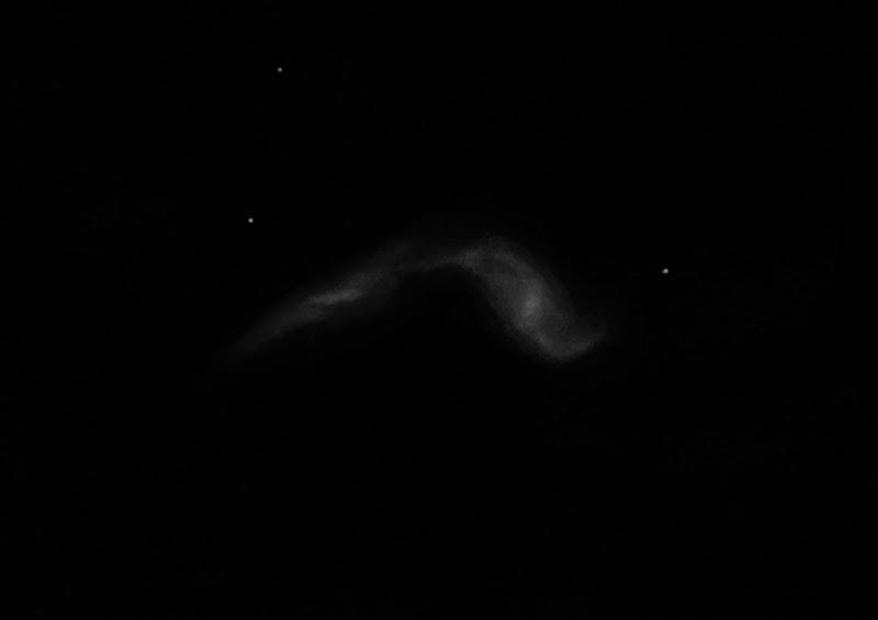 Photo: NGC3395, couple de galaxies dans le Petit Lion. Au T1m de Stellarzac (février 2017). Grossissement 431X.