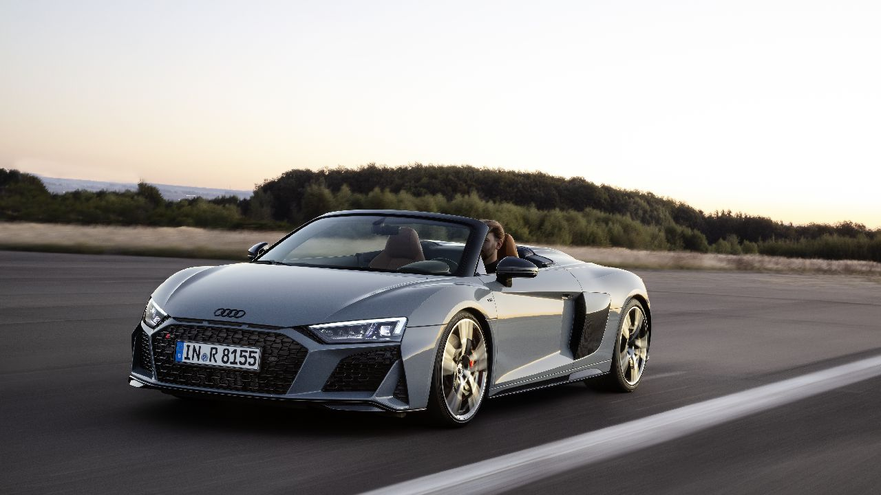 Audi R8   330 km/h   Powered by a naturally aspirated 5-litre engine, the Audi R8 is now only in its second generation. Sprinting from 0 to 100 km/h in 3.2 seconds, the R8 is priced at Rs 2.72 crore. (Image Source: Audi)