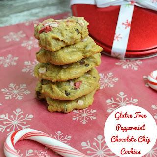 Gluten Free Peppermint Chocolate Chip Cookies