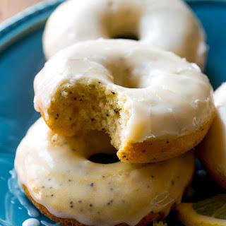 Glazed Lemon Poppy Seed Donuts
