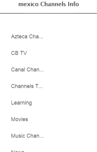 mexico Channels Info