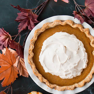 Pumpkin Pie with Salted Caramel Whipped Cream (video).