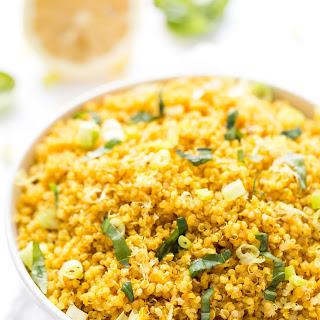 5-ingredient Lemon Turmeric Quinoa.