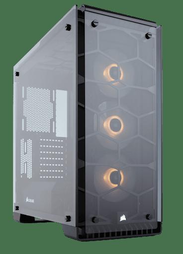 Thùng máy/ Case Corsair Crystal 570X Black RGB - Tempered Glass (CC-9011098-WW) (Đen)