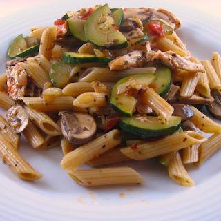 Pasta with Mediterranean Chicken Sauce.