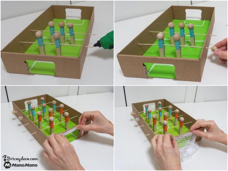 Finishing touches on your cardboard football table