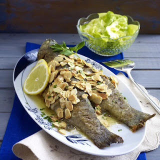 Almond Trout with Simple Green Salad