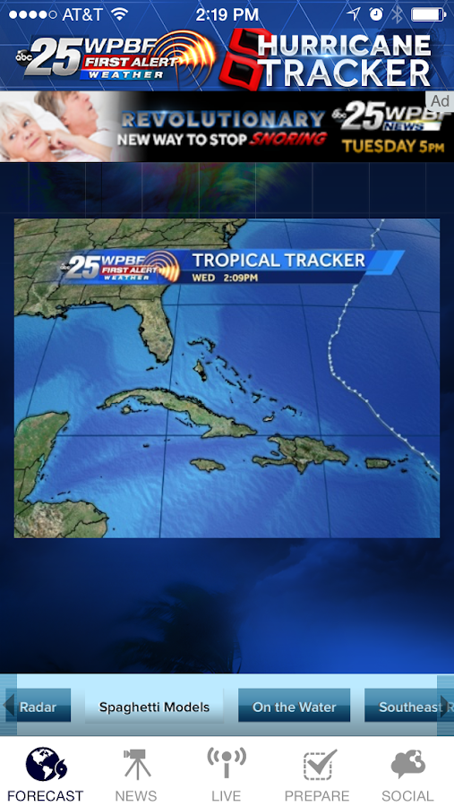 Hurricane Tracker WPBF 25- screenshot