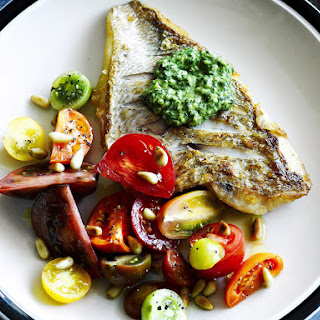 Grilled Fish with Salsa Verde.