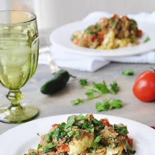 Roasted Cauliflower Steaks with Spicy Quinoa.