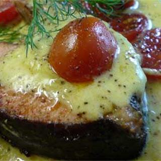 Salmon Steaks with Creamy Orange Sauce