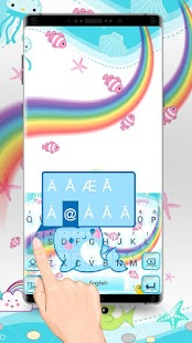 Unicorn Fish Typany Keyboard Theme - náhled