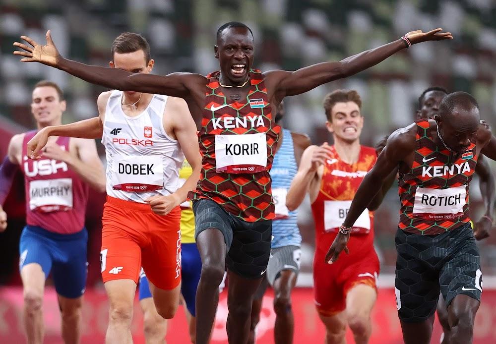 Ruto, Raila lead Kenyans in celebrating Korir after clinching first gold