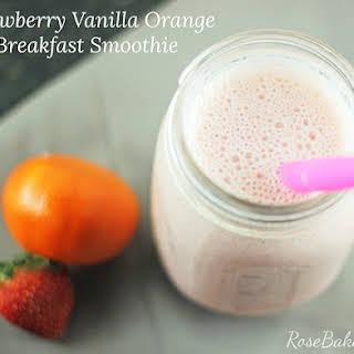 Strawberry Orange Vanilla Breakfast Smoothie.