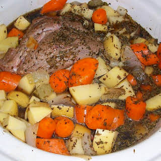 Italian Crock Pot Beef.
