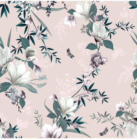 Muriva Lipsy Lotus Tapet med blommor 144051 Rosa