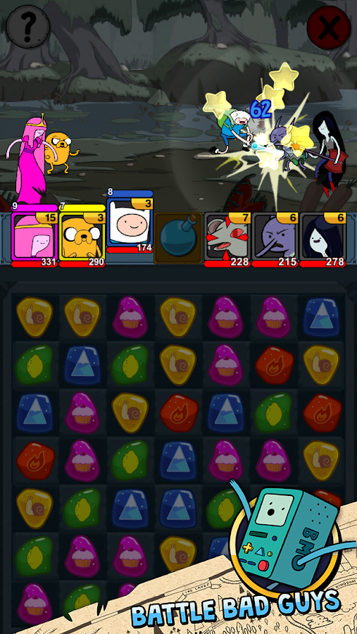 Adventure Time Puzzle Quest- screenshot