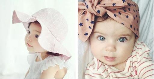 chapeaux enfants capeline et foulard bébé
