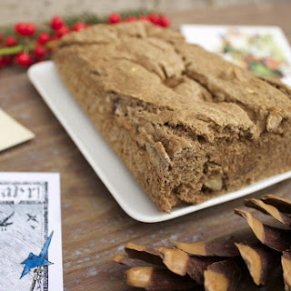 Gluten Free & Vegan Banana Buckwheat Christmas Loaf.
