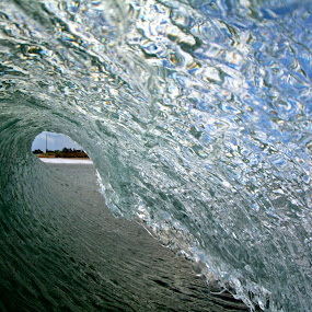 Barrel by Harrison Steele - Landscapes Waterscapes ( cold, ice, perfect, surf, barrel )