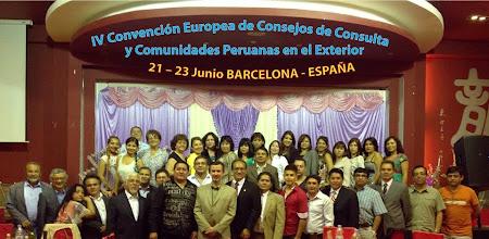 Photo: Ingenieros Peruanos residentes en Catalunya, integrandose y participando en la IV Convención Europea de Comunidades Peruanas en el Exterior. 21 Junio 2013. - BARCELONA