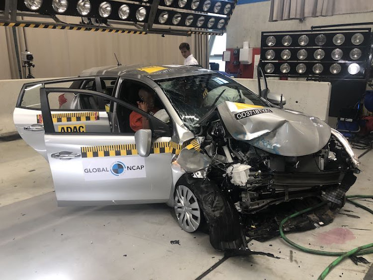 The Toyota Yaris displayed an unstable body shell
