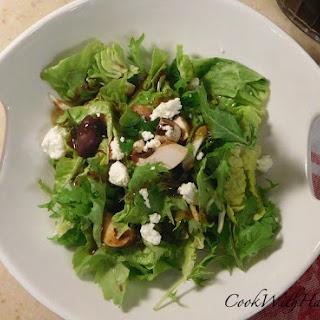 Dear Tongue Lettuce and Arugula Salad with Honey Balsamic Vinaigrette Recipe