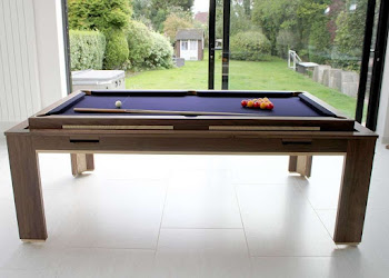 Side view of Rotating Pool table