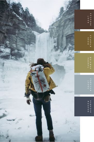 Winter Outdoor Palette - Pinterest Pin template