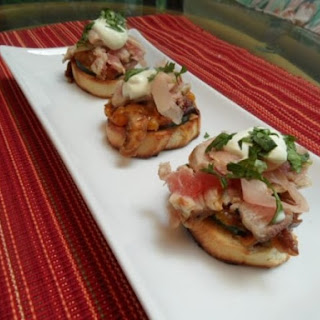 Sushi Tuna Bruschetta with Wasabi Crema
