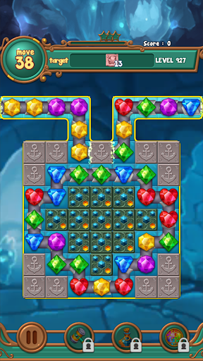 Jewels fantasy:  Easy and funny puzzle game apkpoly screenshots 15
