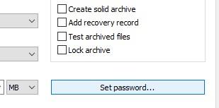 Set a password
