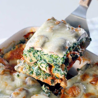 Spinach and Mushroom Vegetarian Lasagna