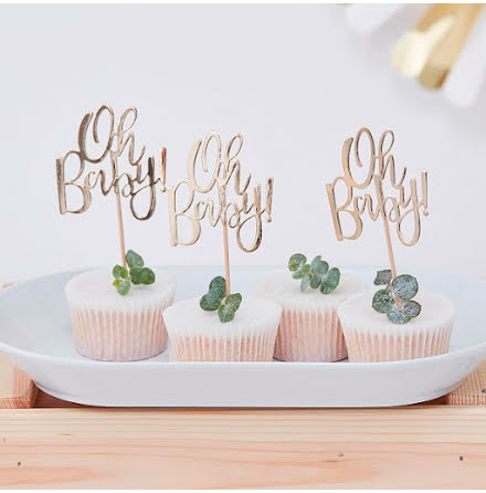 Cupcaketoppers - Oh baby
