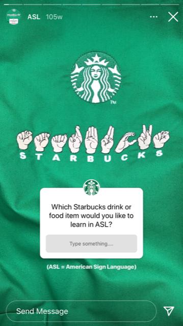 instagram question sticker starbucks