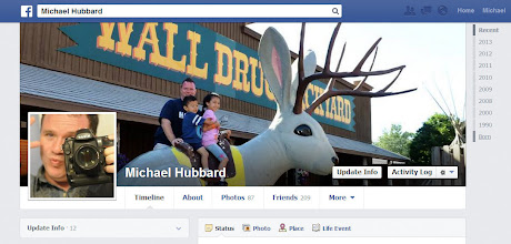 Photo: Using Facebook and the iPhone's camera, we were able to give daily updates to each attraction visited. You can follow along with map on the right. Naturally, I had to make Wall Drug my cover photo.