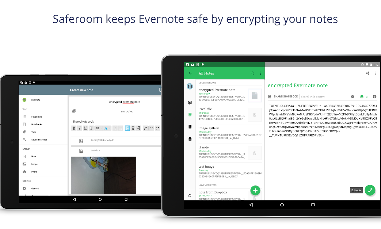 Saferoom - encrypt your data- screenshot
