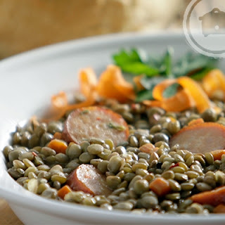 Slow Cooker Spicy Lentil and Sausage Soup