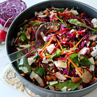 Red Cabbage Spinach & Beetroot Detox Salad.
