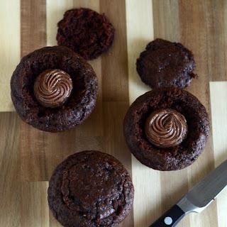 Mocha Cream Filled Cupcakes.