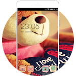 Cute Bear Love Theme: lovehearts Icon
