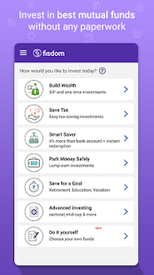 fisdom - Mutual Fund Investments App- screenshot thumbnail