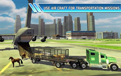 Zoo Animal Transport Truck 3D Airplane Transporter filehippodl screenshot 10
