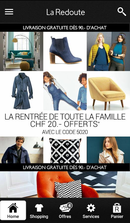 La Redoute CH- screenshot