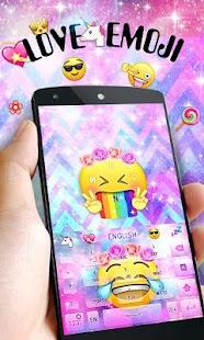 Love Emoji GO Keyboard Theme - náhled