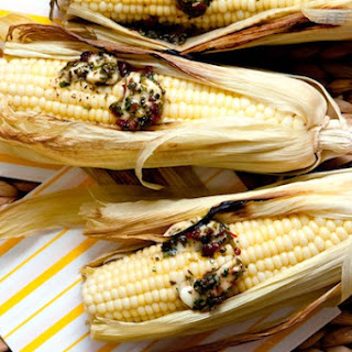 Oven Roasted Corn with Chipotle Butter