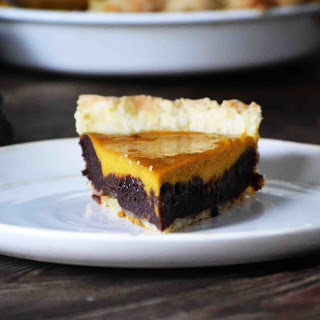 Pumpkin Brownie Pie