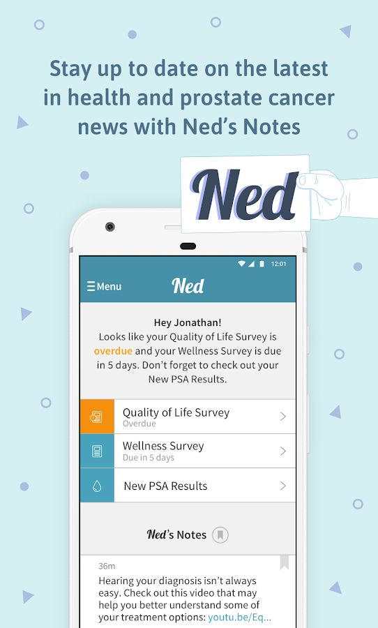 Ned for Prostate Cancer- screenshot