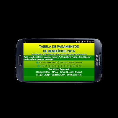 Benefícios INSS Calendário - screenshot