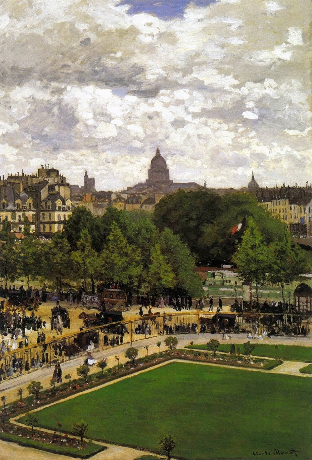 Garden of the Princess (Louvre) by Claude Oscar Monet 1867.